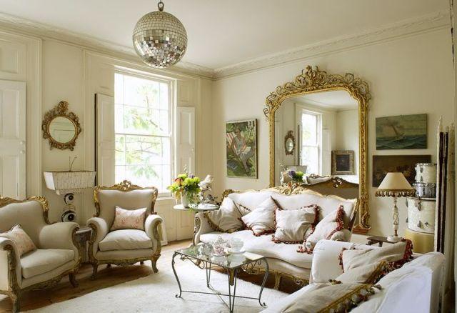 Beautiful Victorian House Living Room Design Fabulous Mirror