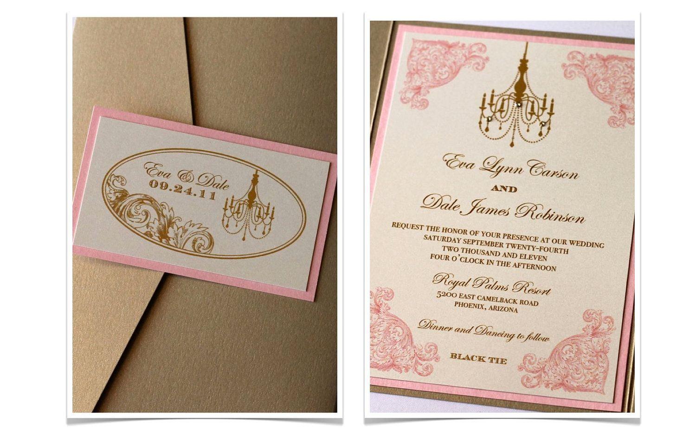 Vintage Wedding Invitation Elegant Wedding Invitation Etsy Wedding Invitation Samples Etsy Wedding Invitations Wedding Invitations Romantic