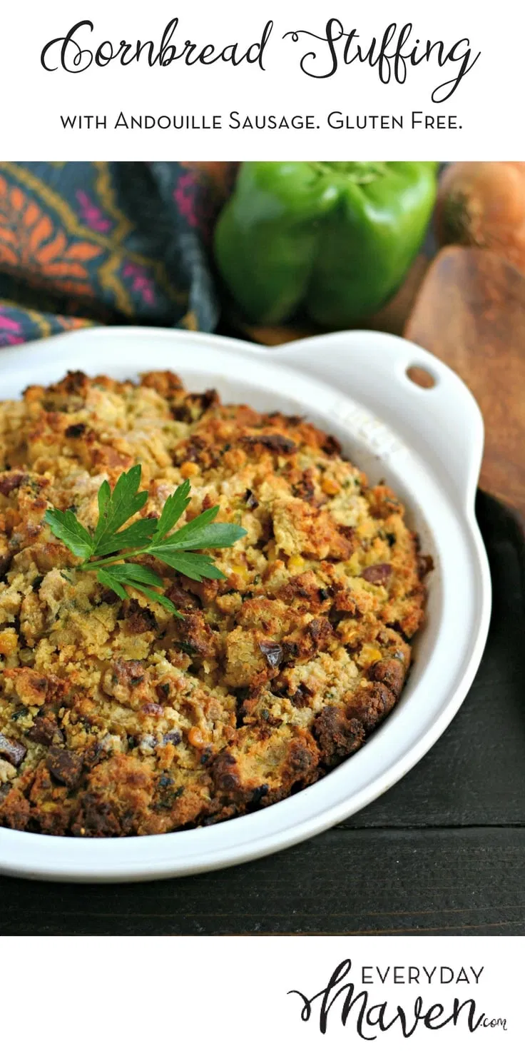This naturally gluten free Cornbread Sausage Stuffing with Andouille Sausage wil…