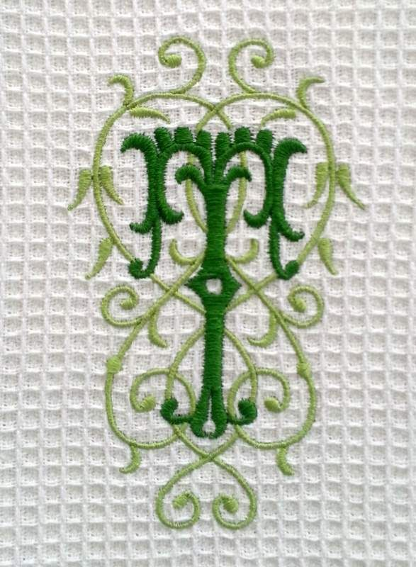 Monogrammed spa weave towel nellybelle designs monogram