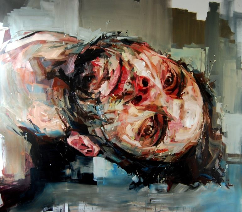 "Saatchi Online Artist: Andrew Salgado; Oil, 2012, Painting ""The Weakness"""