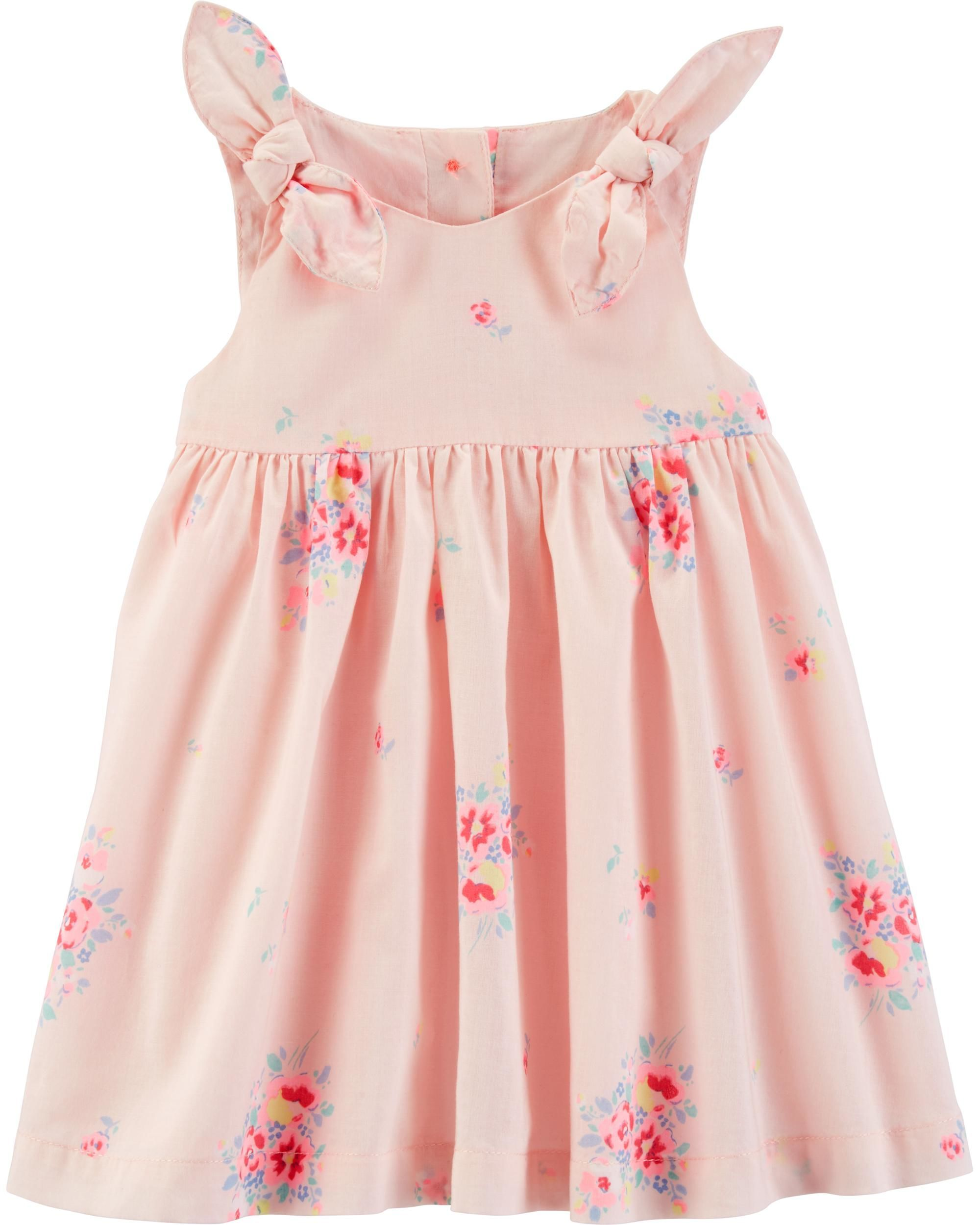 f399fcbea Floral Poplin Dress | Spring 2020 | Babydoll dress, Baby Dress, Baby ...