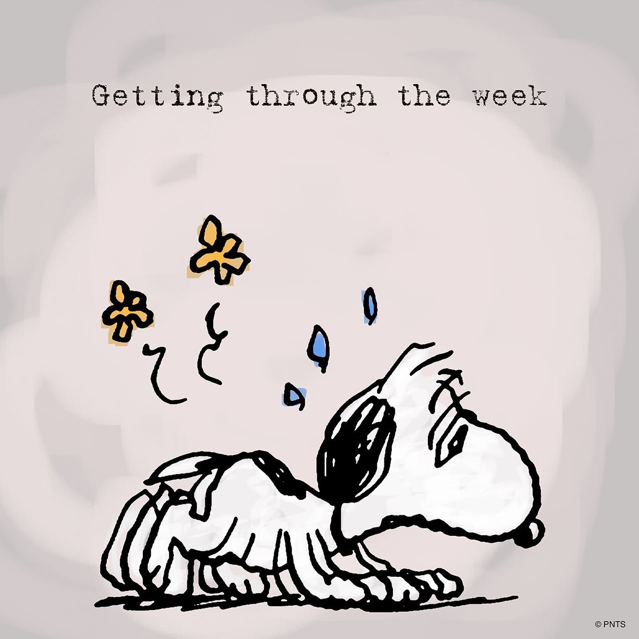 Snoopy Its Just Tuesbut Weekends Dont Mean Much Any More