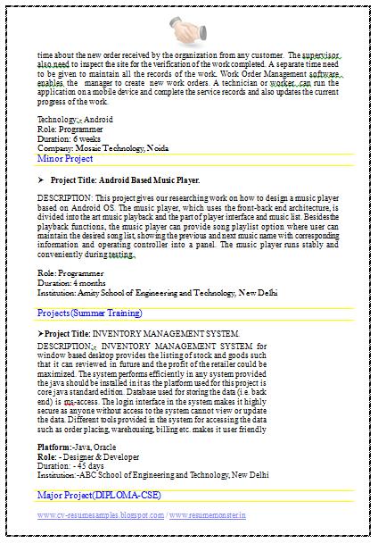 best engineer resume  page 2