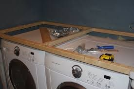 Image Result For Wood Counter Over Washer Dryer