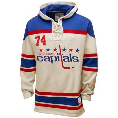 on sale 29e72 f59a4 Old Time Hockey Washington Capitals Lace Jersey Hoodie ...