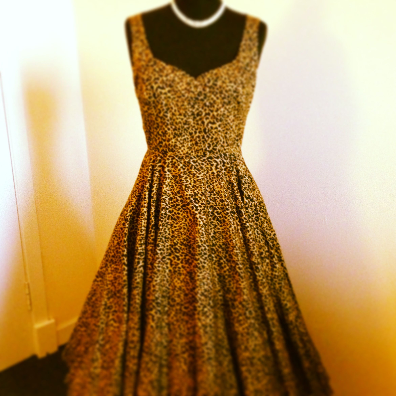 Rockabilly revival in leopard print vintagegowns rockabilly
