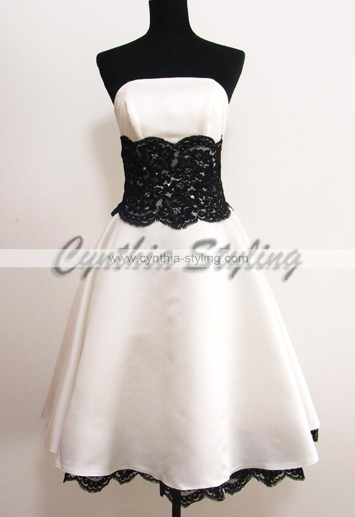 Love The Black White Lace Image Detail For Home Cocktail Dresses White Blac High Low Lace Dress Bachelorette Party Dress White Wedding Dresses