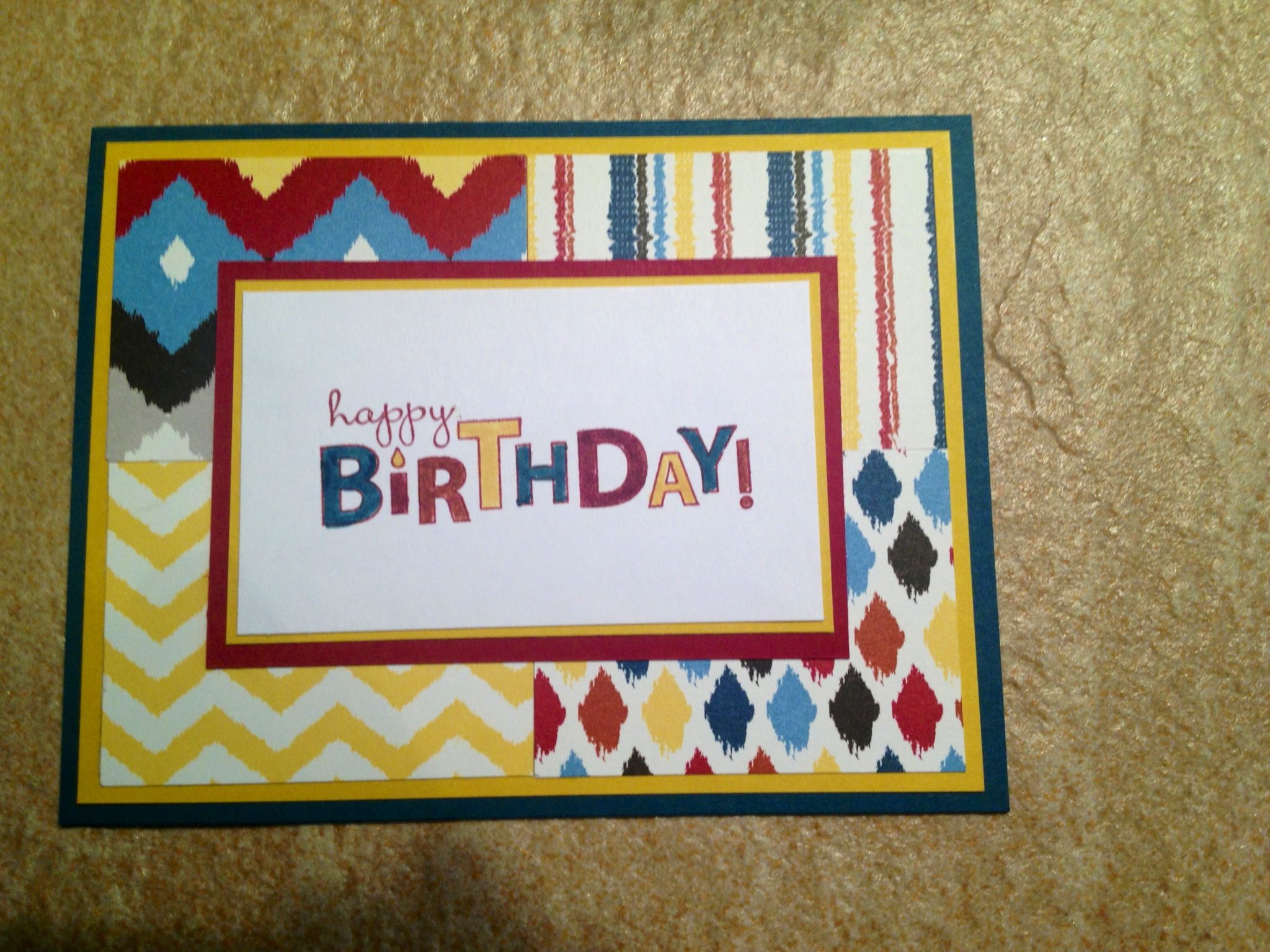 Pin By Cheryl Gelisse On Cards I Ve Made Old Birthday Cards Stampin Up Birthday Cards Birthday Cards For Boys
