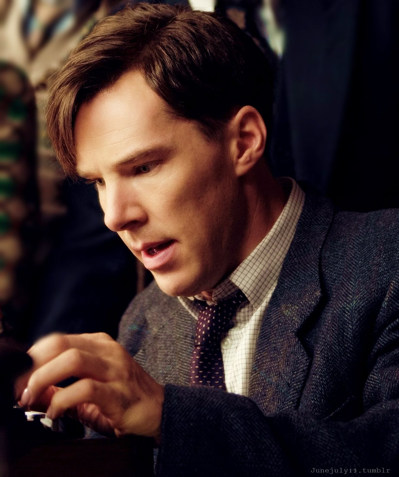 Alan Turing Libro Benedict Cumberbatch As Alan Turing In The Upcoming Movie