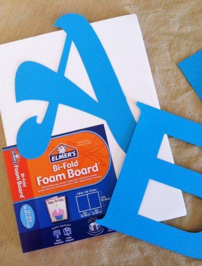 Making Foam Board Letters Foam Letters Diy Letters Letter A Crafts