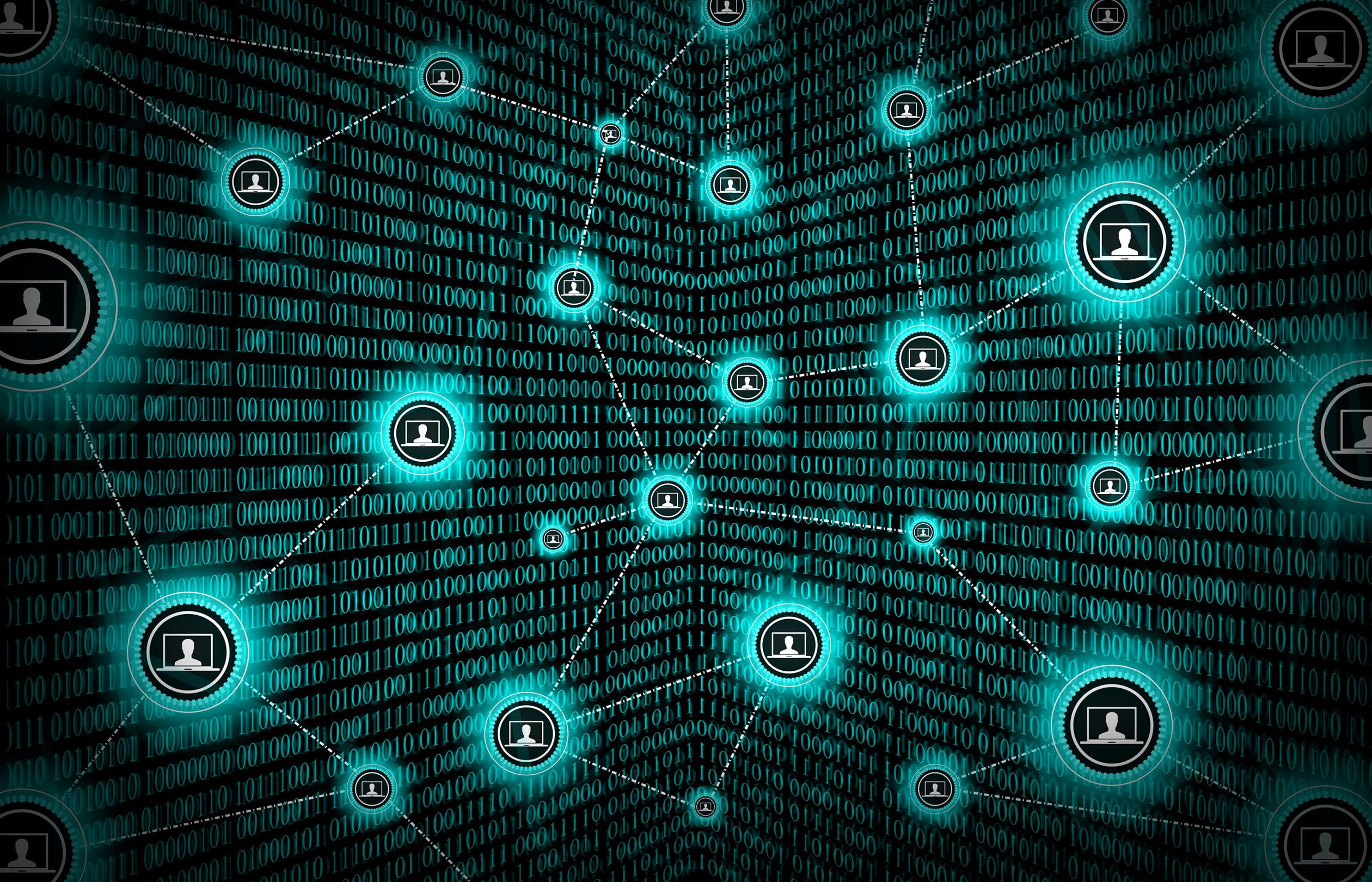 Block chain network concept distributed ledger