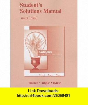 Student solutions manual for calculus for business economics life student solutions manual for calculus for business economics life sciences and social sciences fandeluxe Choice Image