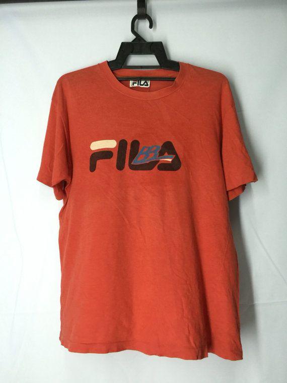 3839a4023208 Vintage 80 s Fila Sport Mens Shirt Large Fila Italy Mens Shirt fila Tennis Sport  T Shirt Men s Size L by MudeanDean