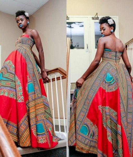 African Print Fancy Maternity Dresses: AfricanPrint-Dashiki-Dress-Zuvaa-Fashion1
