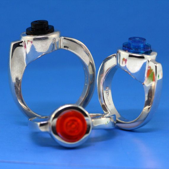 Lego Ring  Interchangeable Bricks  Custom Sterling by UBrickIt, $85.00