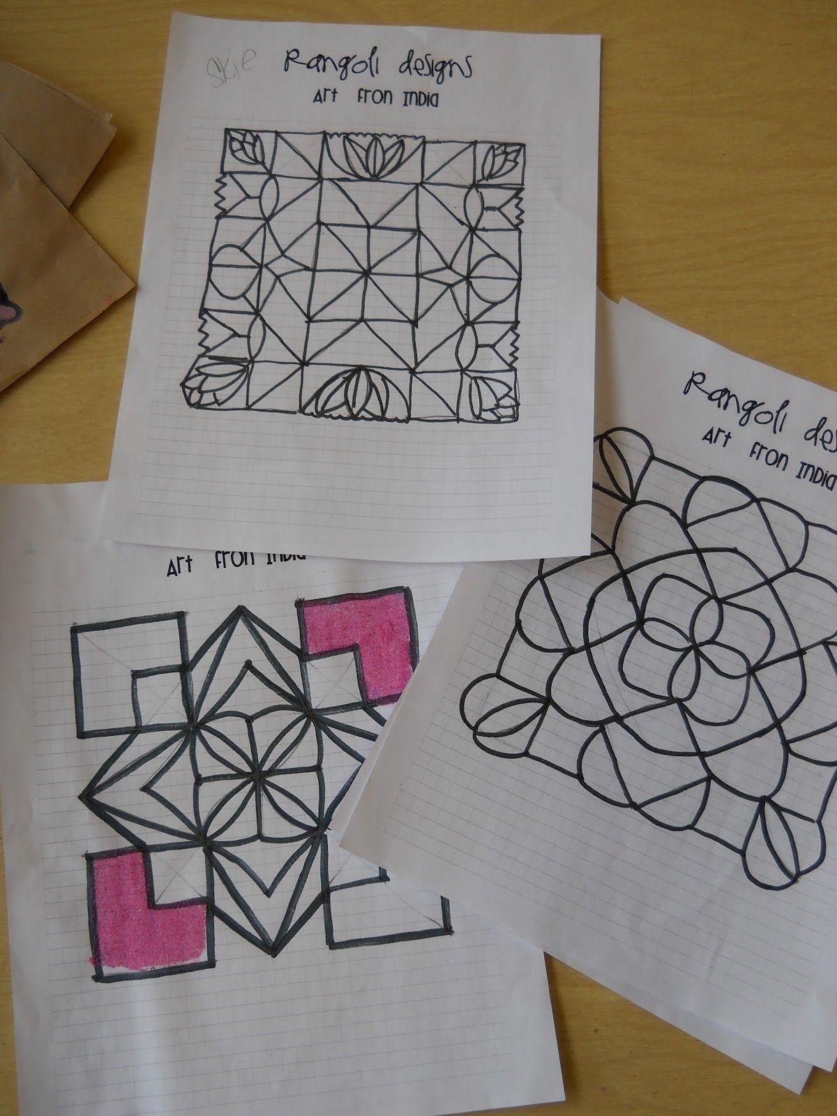 Rangoli Designs From India Elementary Art Elementary Art Rooms