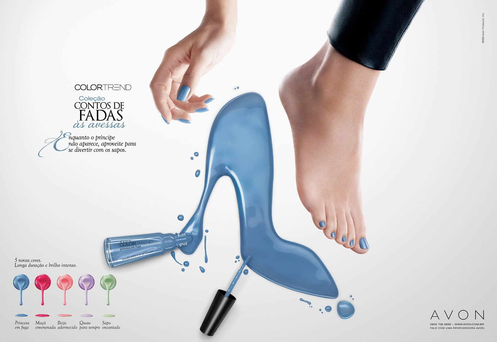 fairy tales avon ads avon is tying in the well known icons in classic princes stories to advertise their new nail polish colors i like how each of the