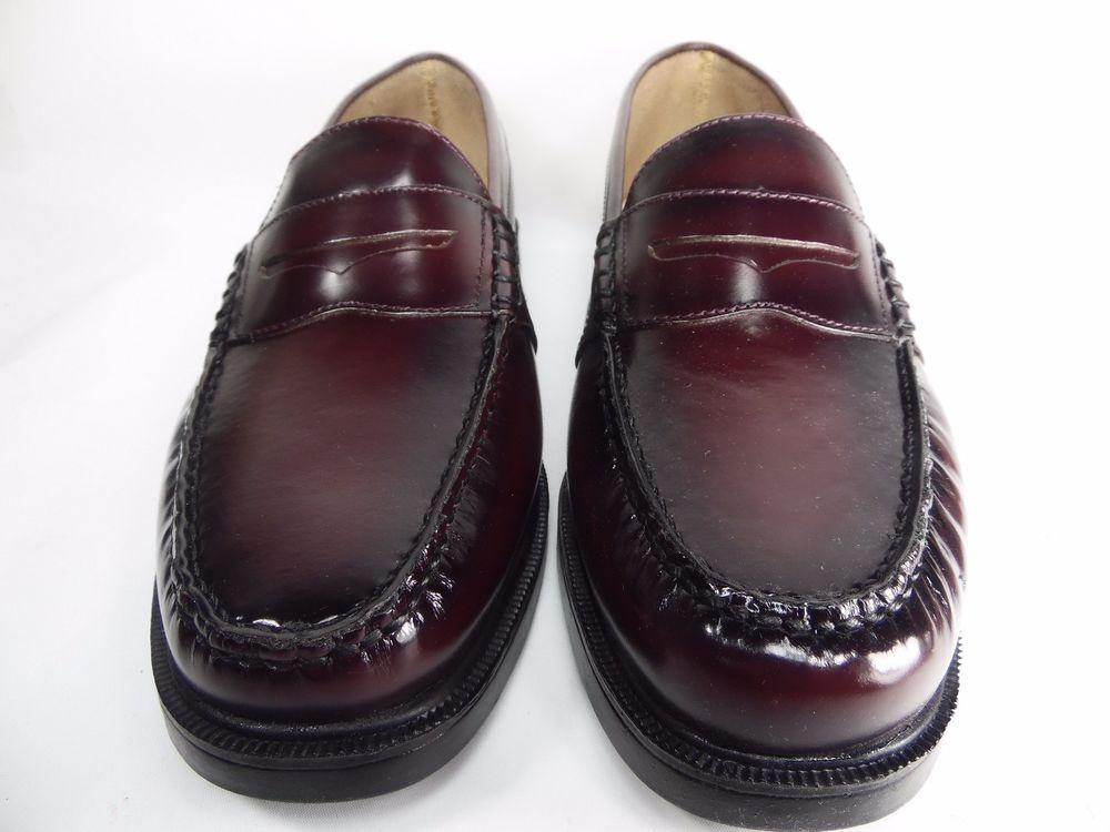 839ba5a46b7 Nunn Bush® Lincoln Mens Penny Loafers Burgundy Size 12W  NunnBush   PennyLoafers