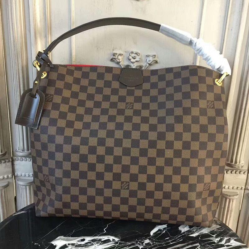 Louis Vuitton Graceful MM N44045 Damier Ebene Canvas  d4bc921e90f5e