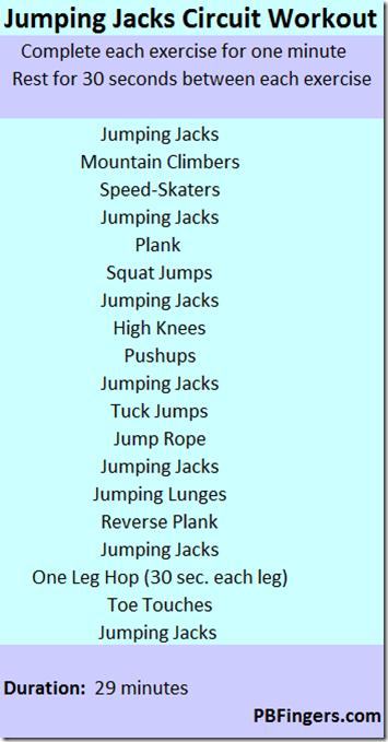 jumping jacks circuit workout bootc pinterest workout Modified Jumping Jacks jumping jacks circuit workout peanut butter fingers