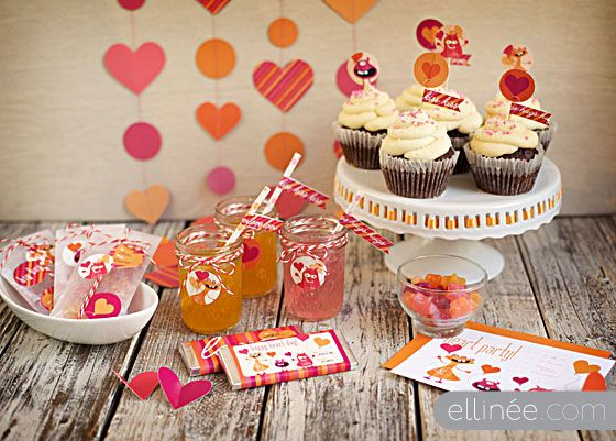 Free Printable Collection Kids Monster Valentines Day Party