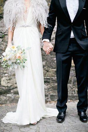 White Feather Bolero Wedding Dresses Wedding Dress Trends