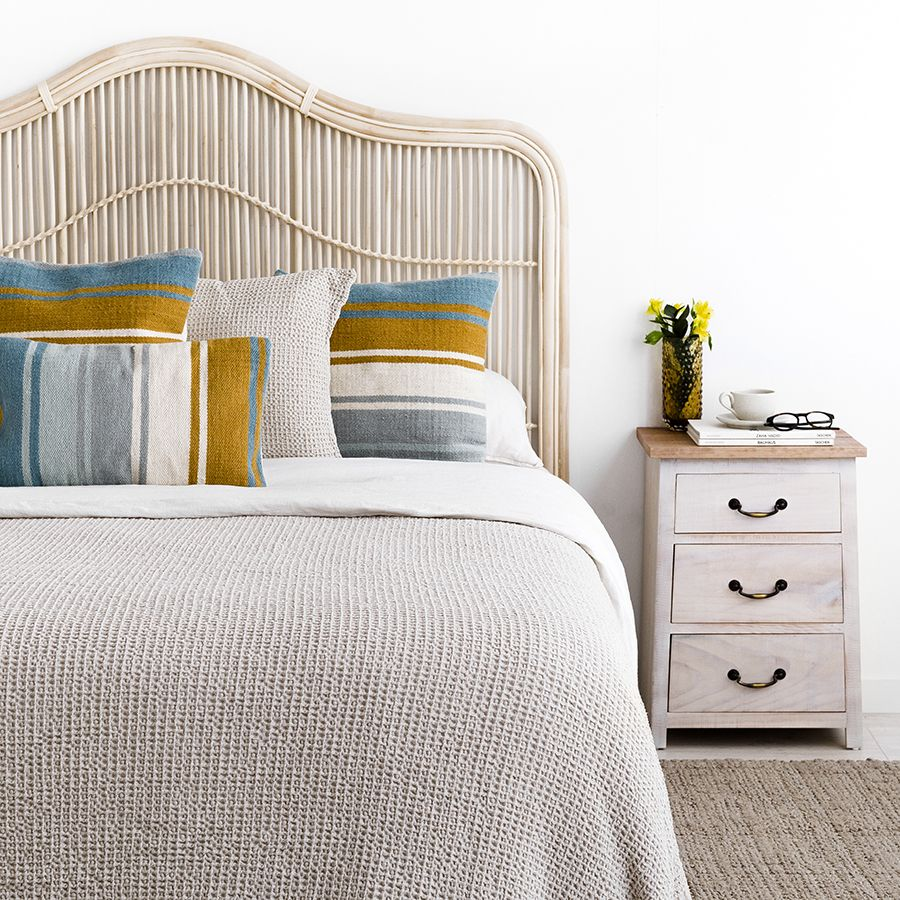 Obi colcha de algodón piqué para cama de 150 y 160 cm en