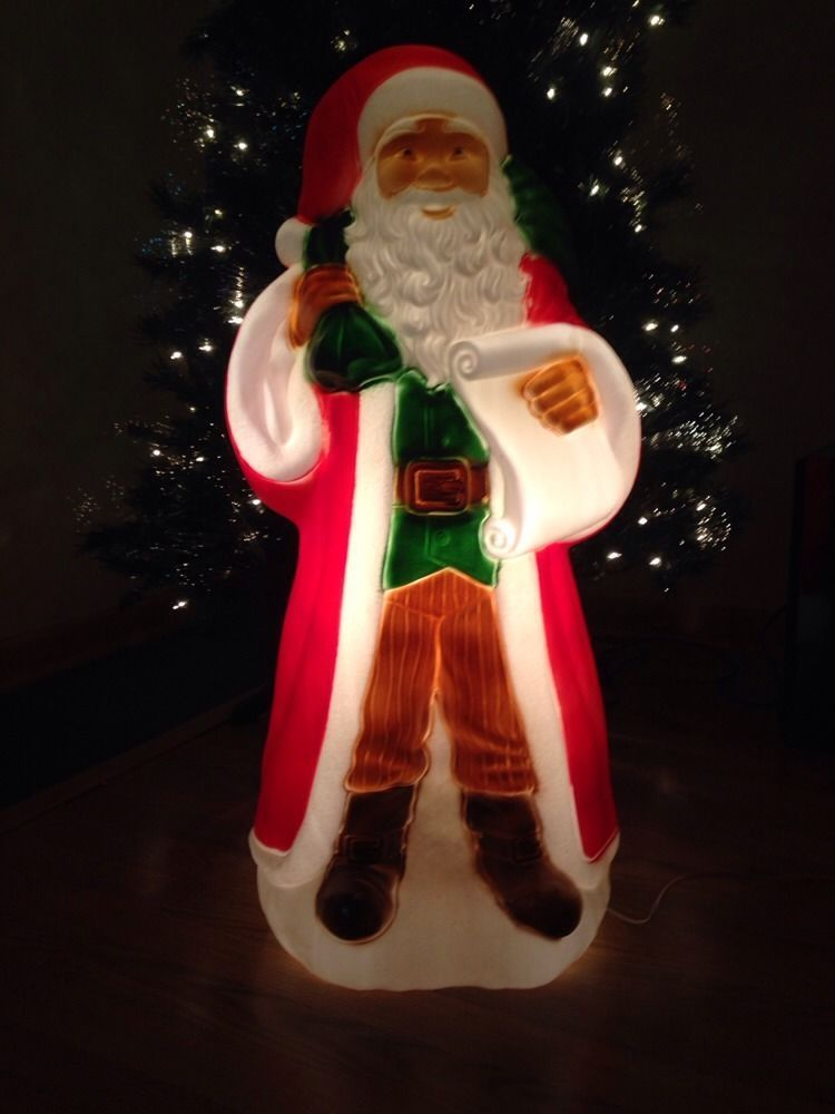Blow Mold Christmas Yard Decorations.New Christmas 32 Old World Santa Blow Mold Lighted Yard