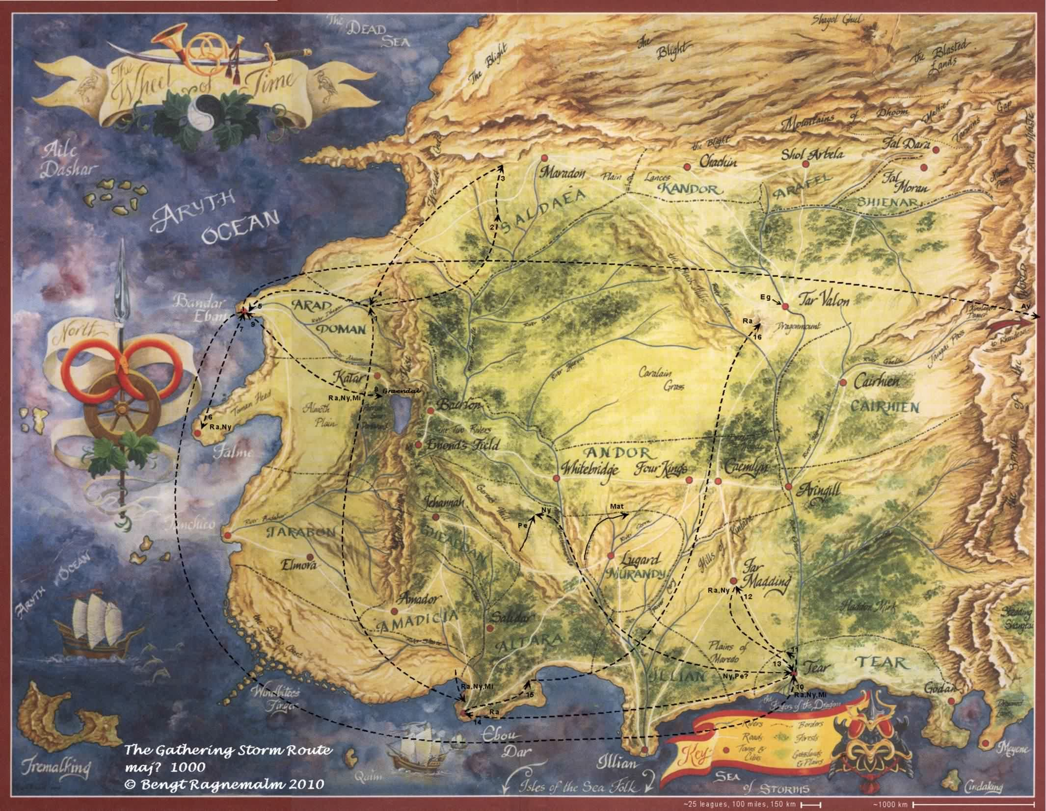 The Wheel of Time Routes in 2019 | Fantasy map, Time art ...