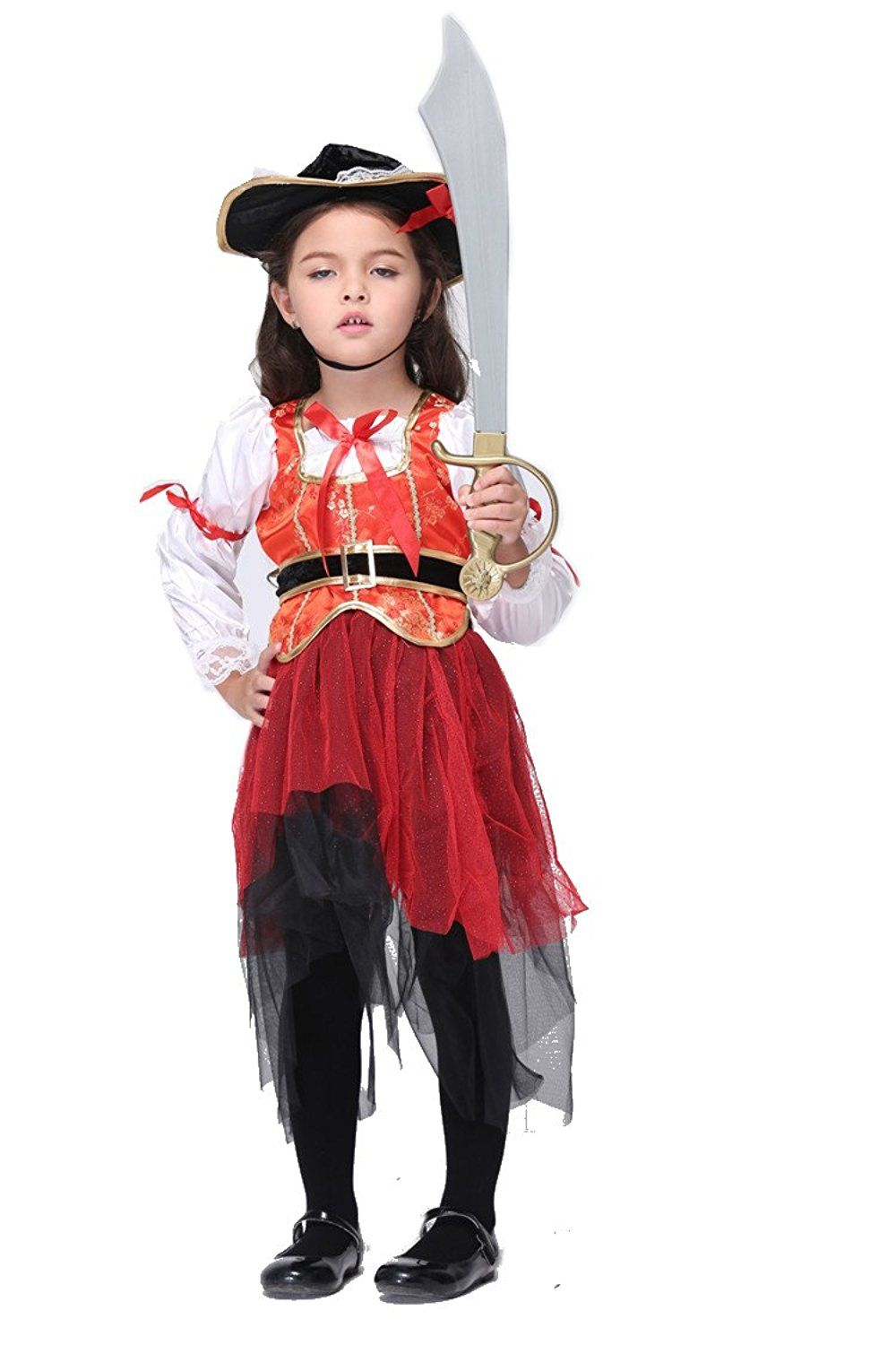 NonEcho Girls Pirate Halloween Costume for 311 Years Old