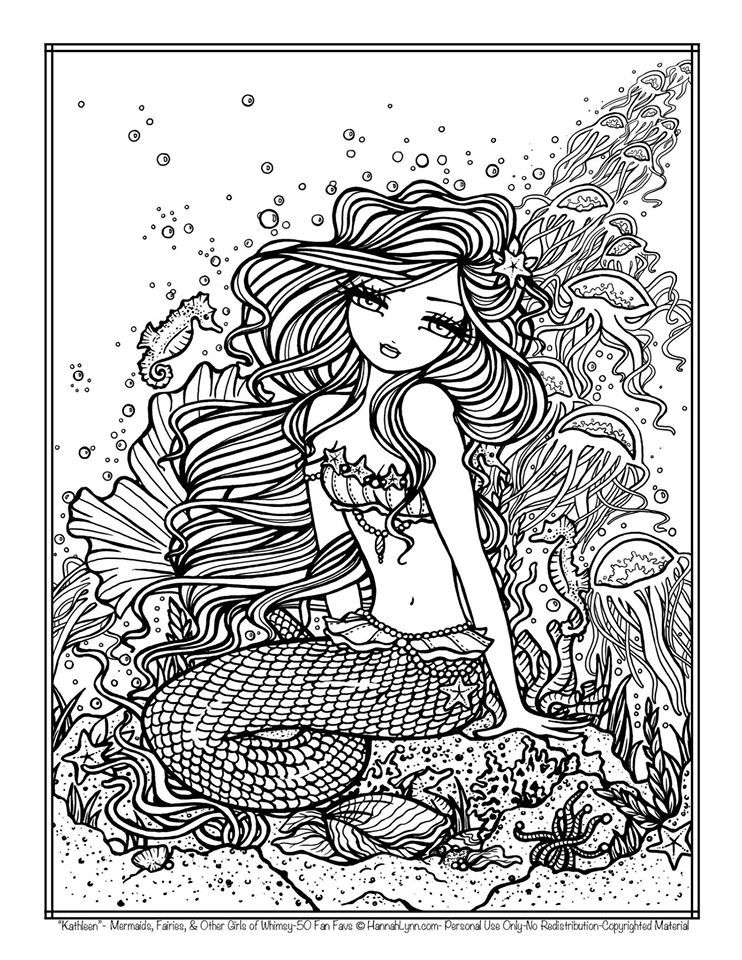 Idea By Donnya Freestone On Coloring Mermaid Coloring Pages