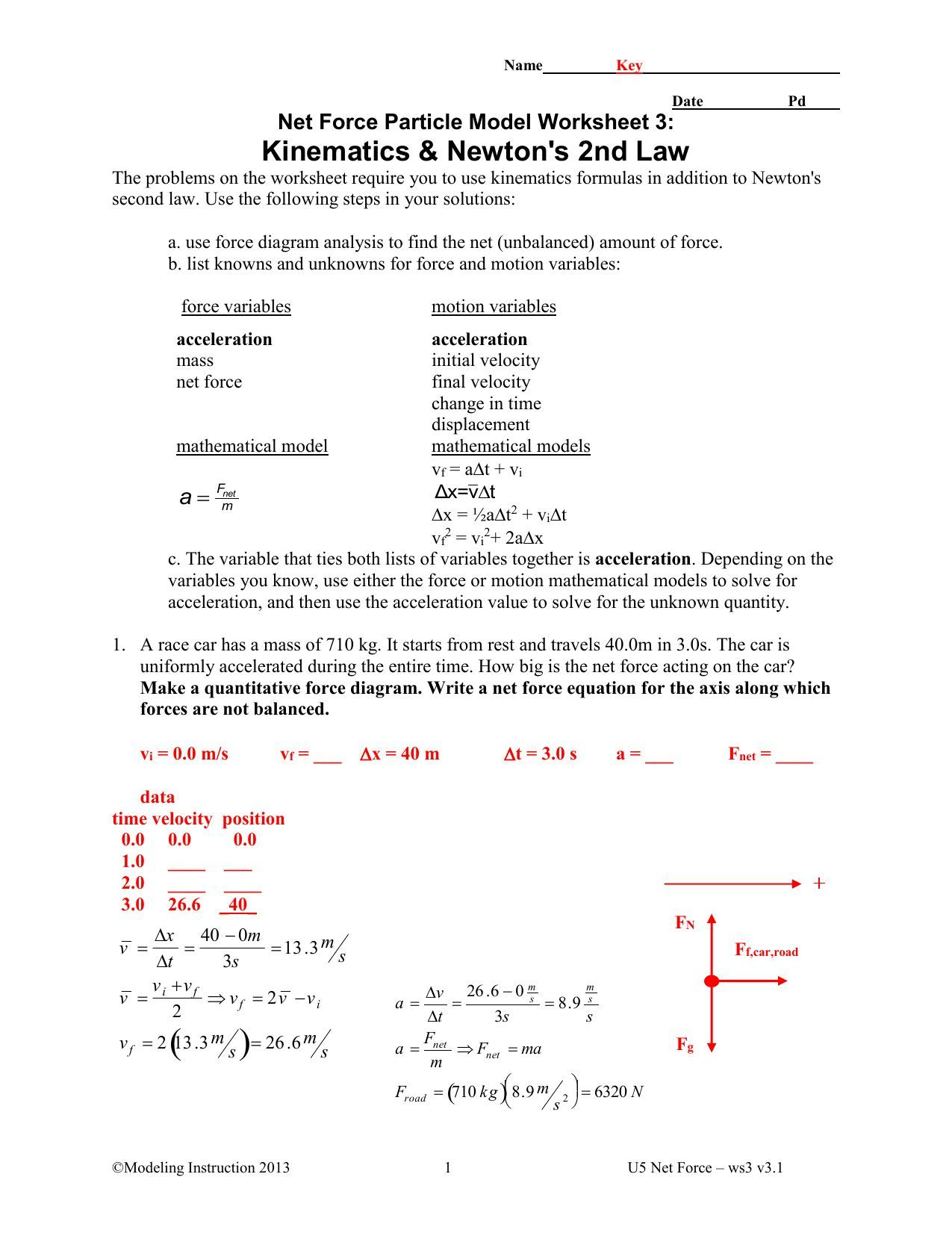 49+ Force worksheet answers Education