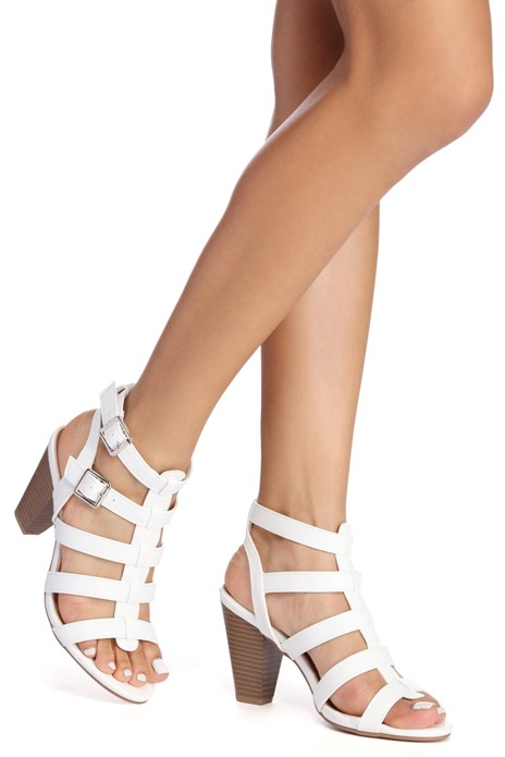 All The Rage Caged Heel Sandals | Shoes
