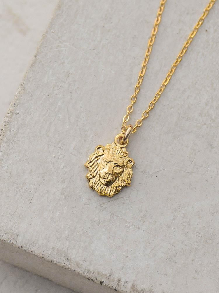 9ca4be829f5 Lion Charm Necklace - Gold in 2019 | JEWELZ | Gold necklace, Lion ...