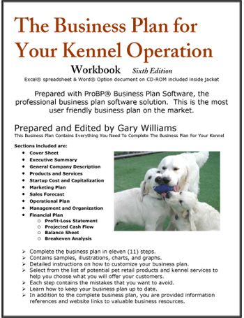 The Business Plan for Your Dog Kennel Operation @Nicole Novembrino - business startup costs spreadsheet