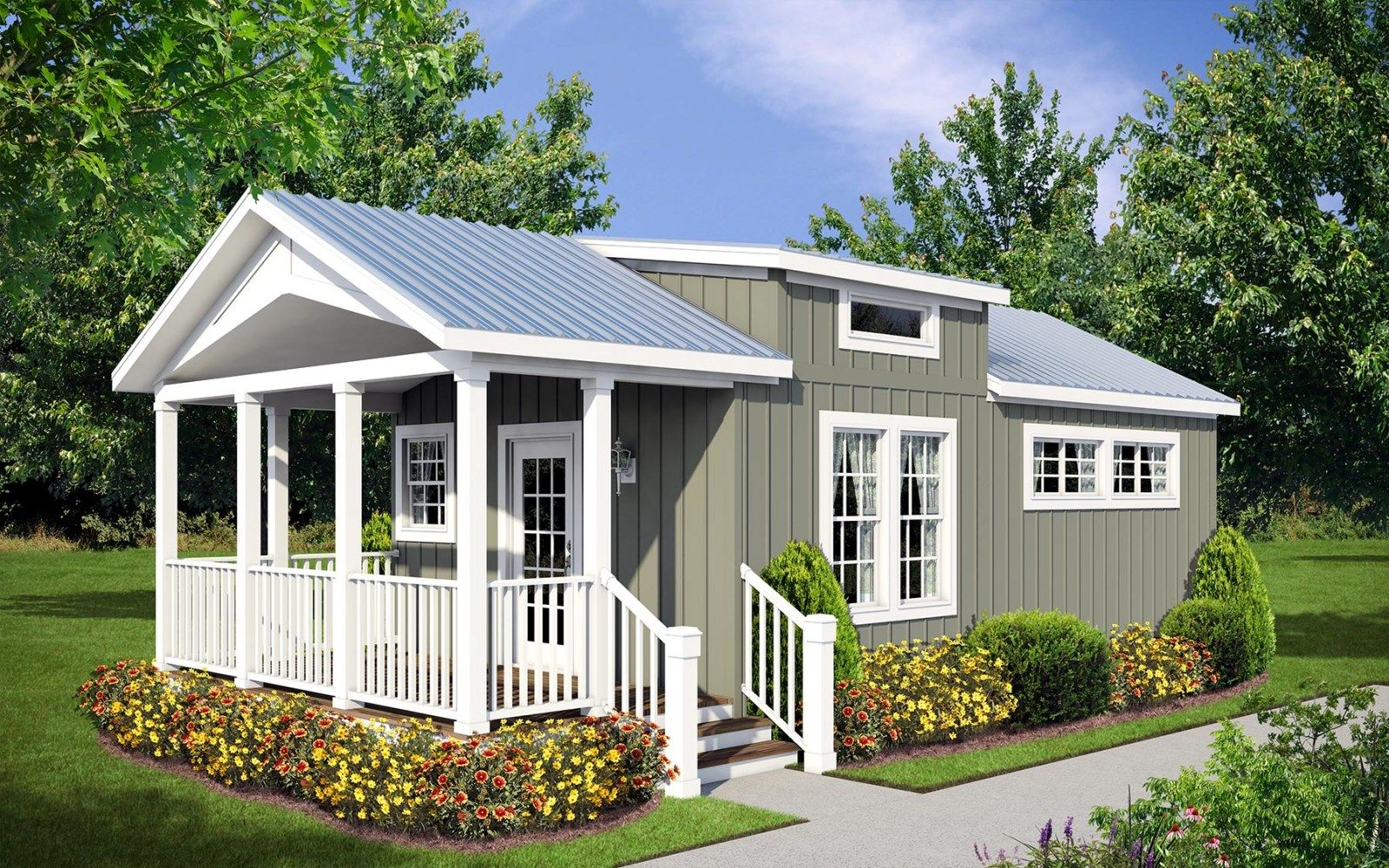 The Antigua Built By Athens Park Model Rvs In Athens Tx View The Floor Plan Of This 1 Bedroom 1 Mobile Home Floor Plans Park Model Homes Small Modular Homes