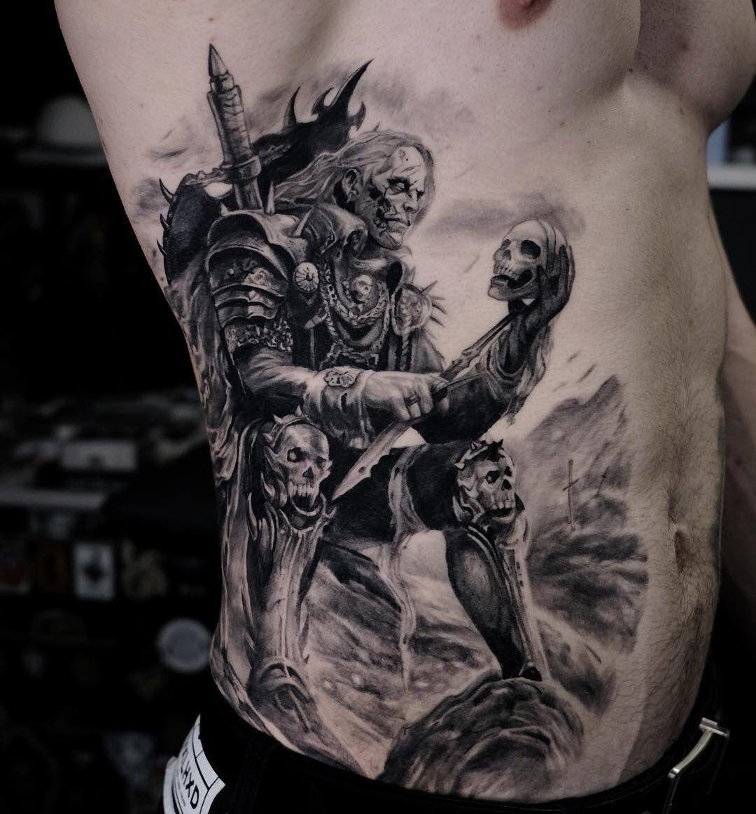 Black Grey Realism Rib Tattoo Realismtattoo Blackandgreytattoo