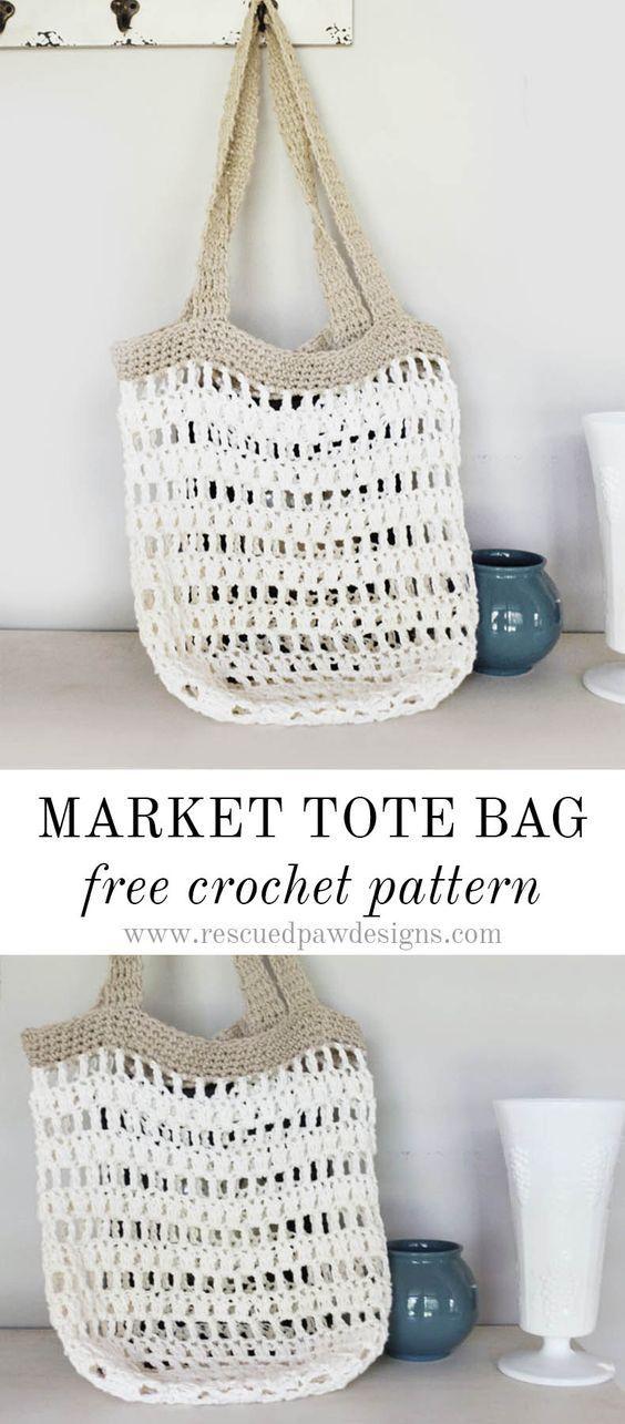 Crochet Fox Patterns: Market Tote Bag Crochet Pattern - Free Crochet ...