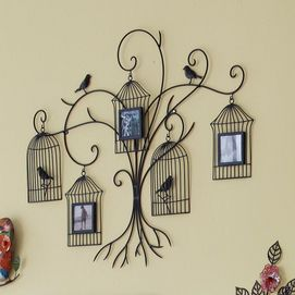 Hanging Bird Cages Photo Frame Tree Wall Decor - Sears