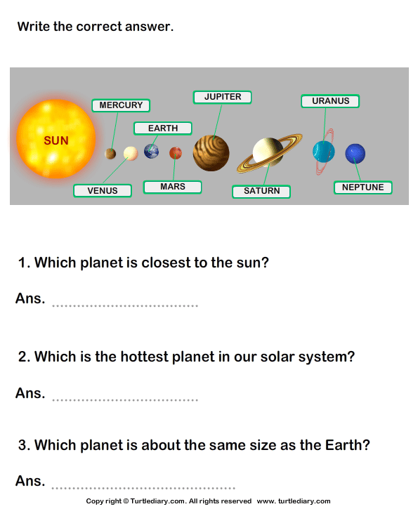 Download And Print Turtle Diarys Planets In Our Solar System
