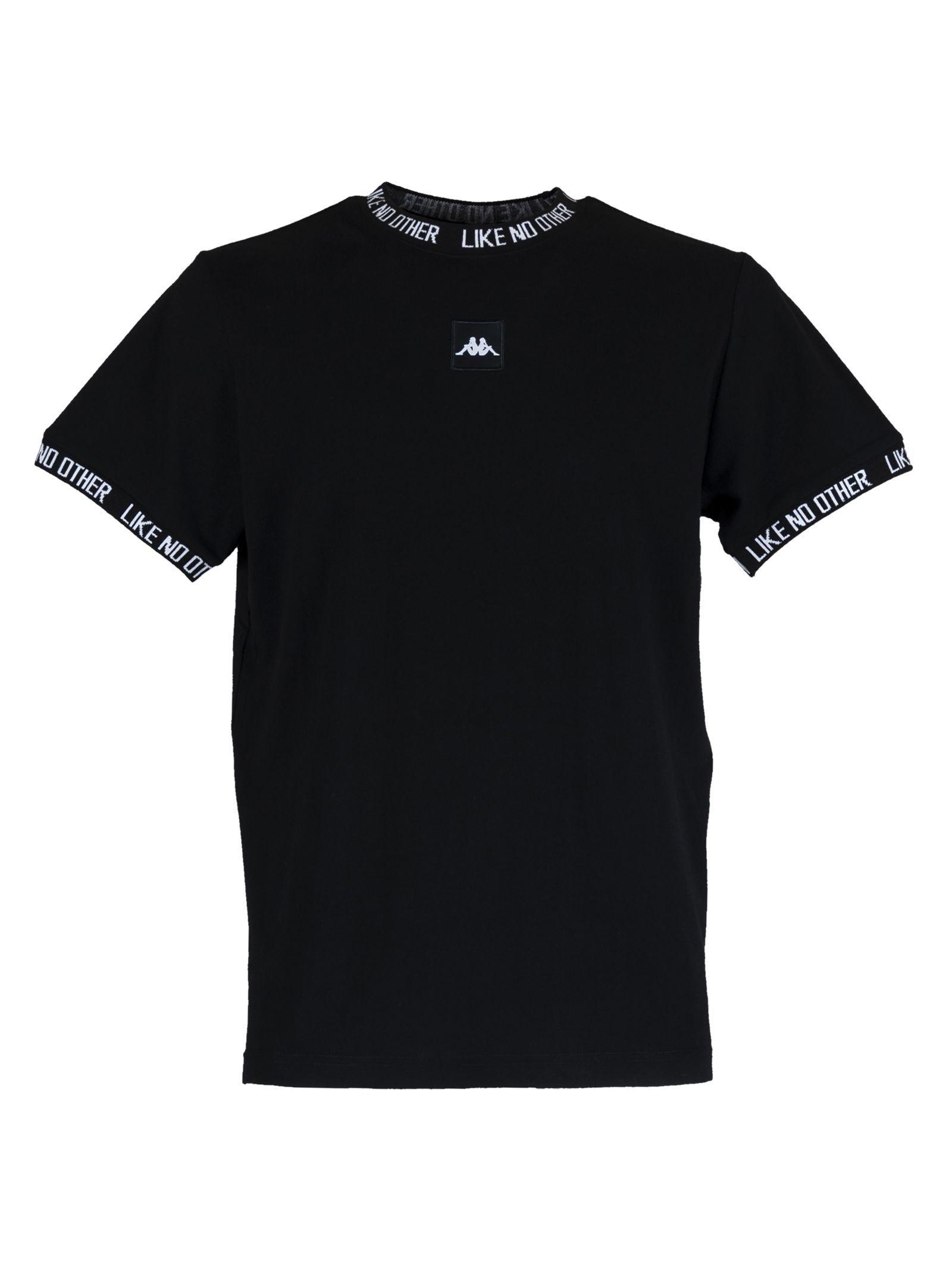 pelota local Historiador  Kappa Authentic Basco Tee In Nero/bianco | ModeSens | Nike mens shirts,  Kappa clothing, Mens clothing styles