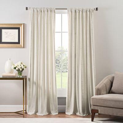 Stockton Velvet 84 Inch Rod Pocket Back Tab Window Curtain Panel In Ivory Panel Curtains Living Room Decor Curtains Velvet Curtains