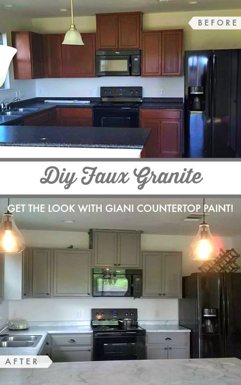 Makeover Your Countertops With Paint Getting The Granite Look