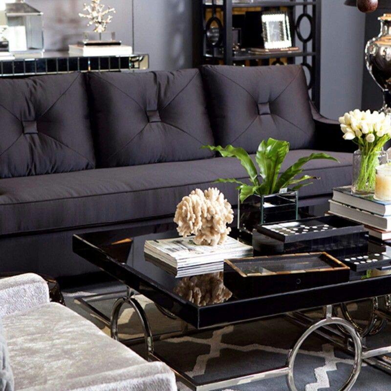 Lovely dark furniture against perfect gray Home Pinterest