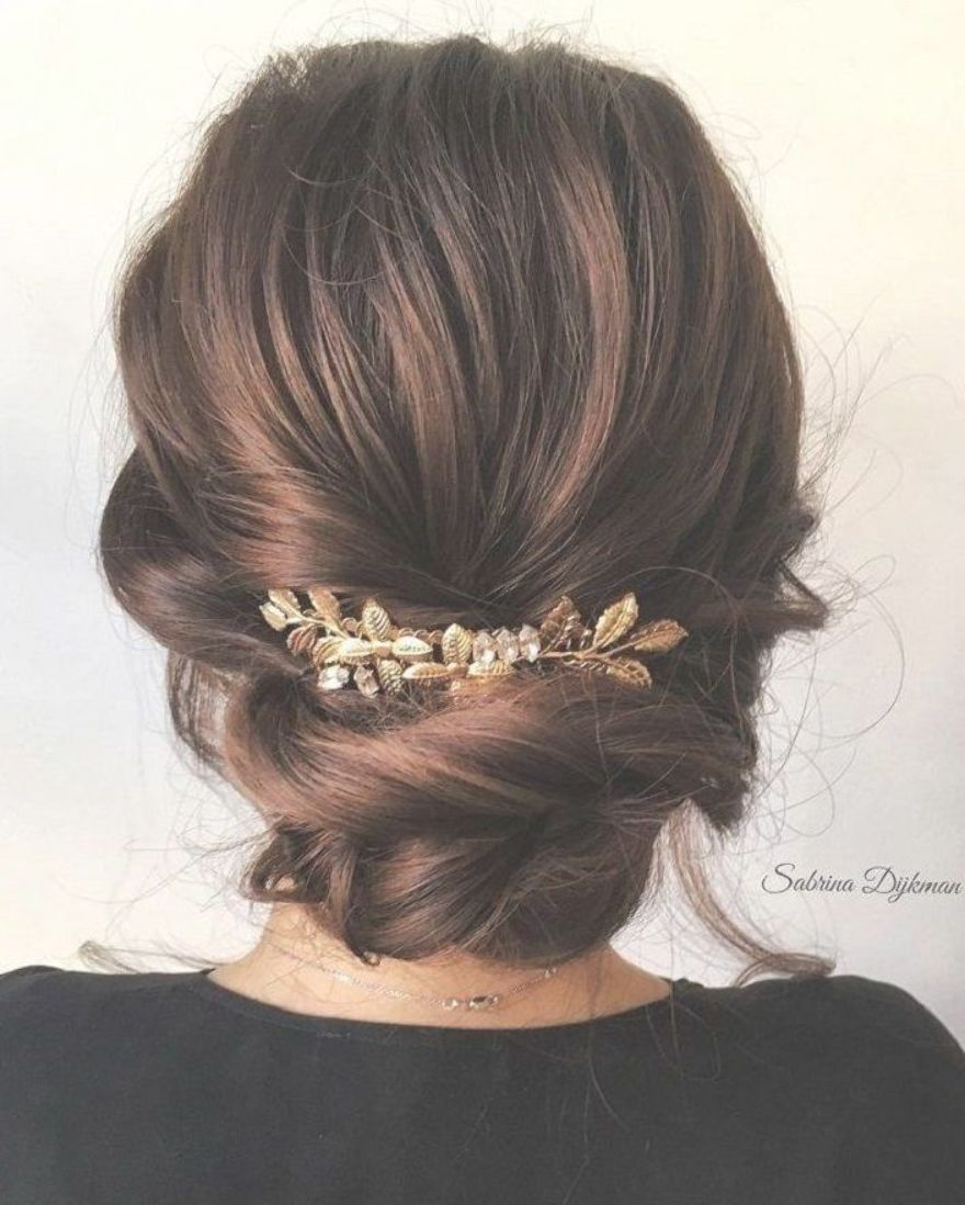 57 Romantic Unique Wedding Hairstyles To Inspire You Braided Updo Hairstyle Low Bun Bri Unique Wedding Hairstyles Messy Hair Updo Braided Hairstyles Updo