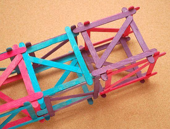 Build A Popsicle Stick Tower Craft Stick Crafts Popsicle Stick
