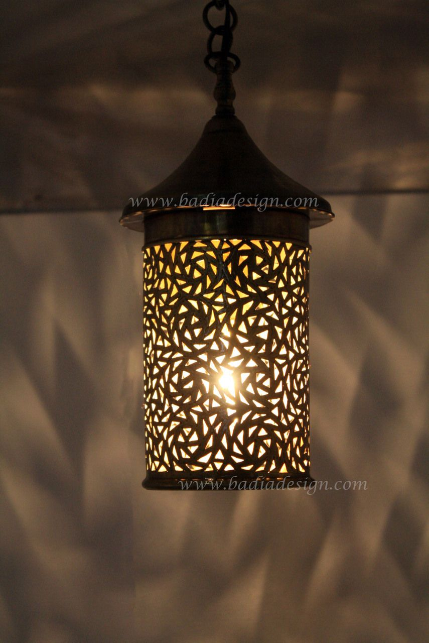 Badia Design Inc Store   Cylinder Shaped Hanging Brass Lantern   LIG136,  $174.00 (http