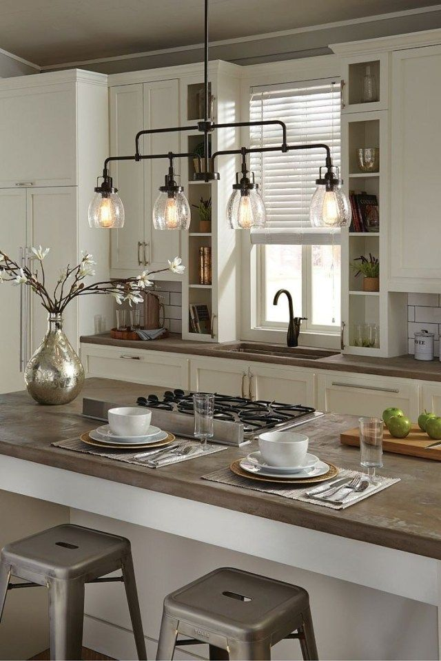 wonderful image of lighting fixtures over kitchen island home design ideas kitchen island on kitchen island id=61492