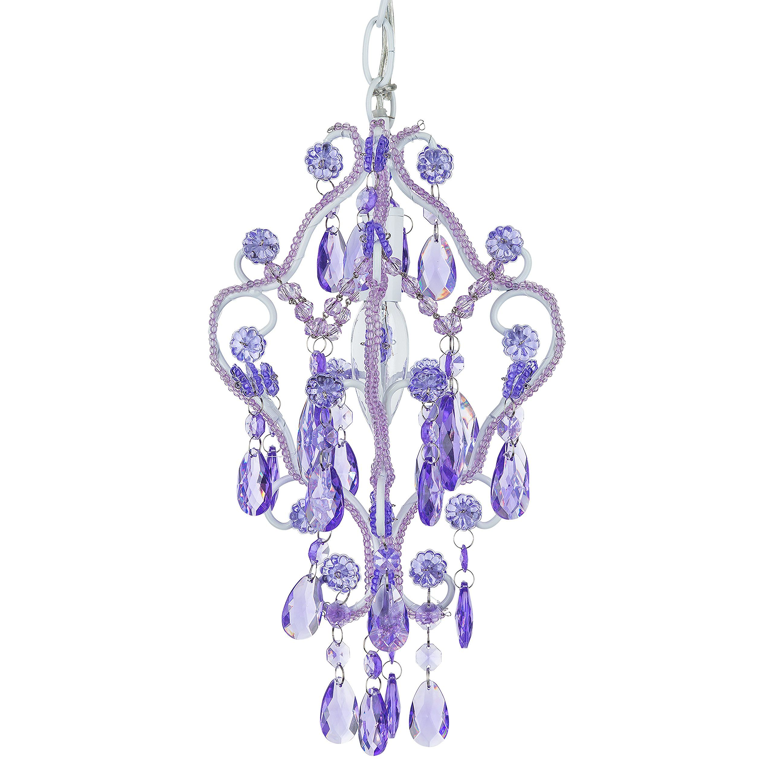 Tiffany mini lavender purple light chandelier small crystal beaded